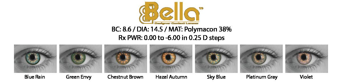 Bella Cosmetic Contact Lenses
