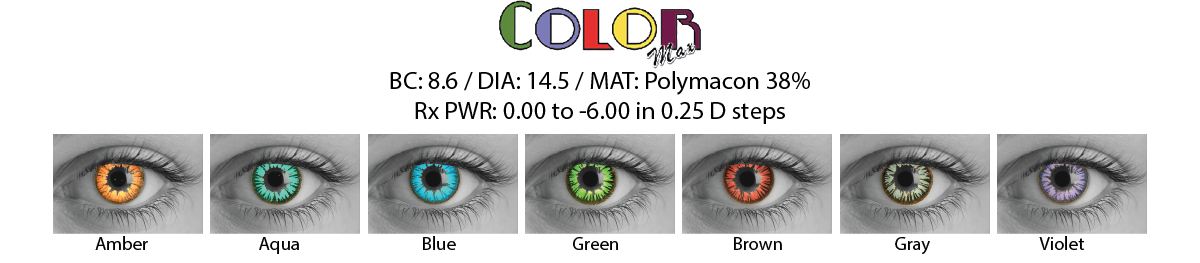 Color Max Cosmetic Contact Lenses