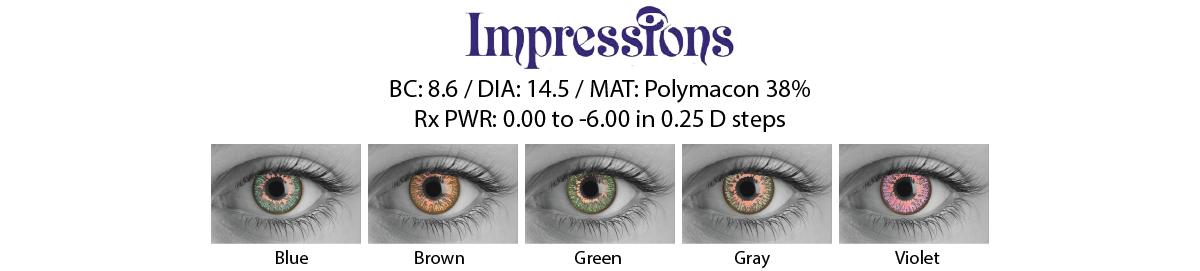 Impressions Cosmetic Contact Lenses