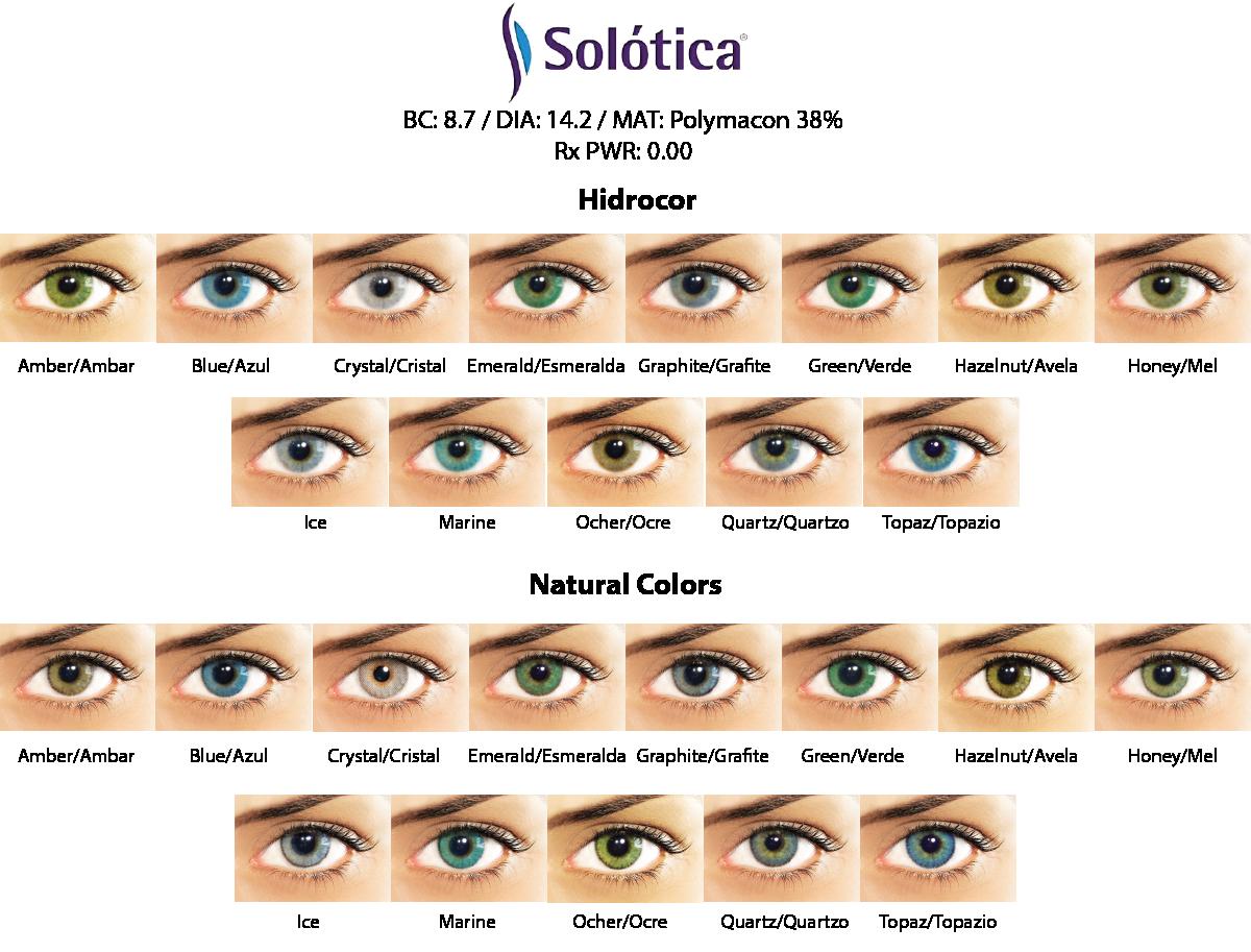 Solotica Cosmetic Contact Lenses