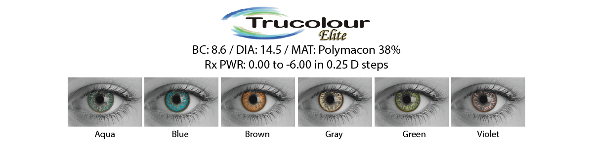 Trucolour Cosmetic Contact Lenses